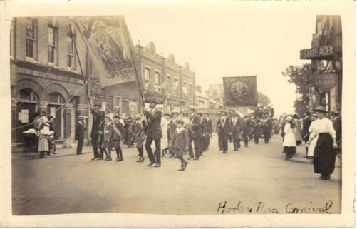 Post Card of Horley Peace Carnival 1918